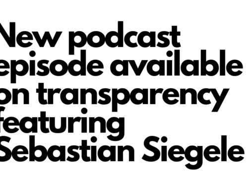 Podcast episode on transparency